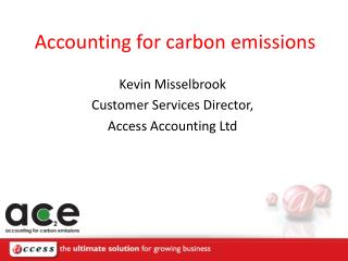 Accounting for carbon emissions