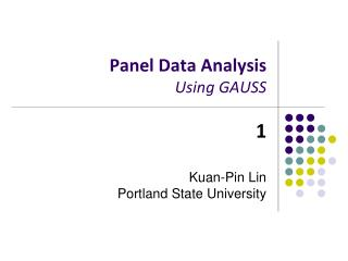 Panel Data Analysis Using GAUSS