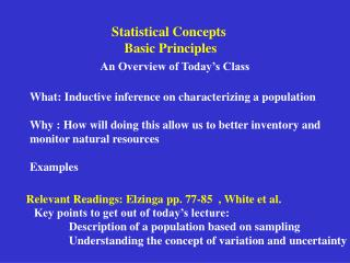 Statistical Concepts  Basic Principles