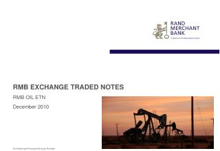 RMB EXCHANGE TRADED NOTES