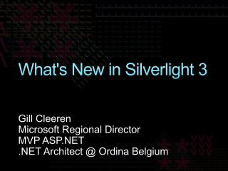 What's New in Silverlight 3