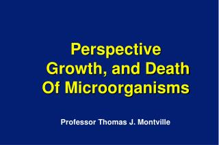 Perspective  Growth, and Death  Of Microorganisms