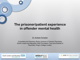 The prisoner/patient experience in offender mental health