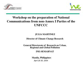 Workshop on the preparation of National Communications from non-Annex I Parties of the UNFCCC