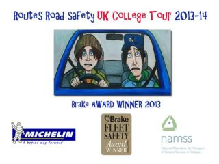 Routes Road Safety is a touring project aimed at young people age 16-19 in UK colleges.