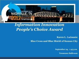 Information Innovation People's Choice Award