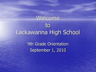 Welcome  to  Lackawanna High School