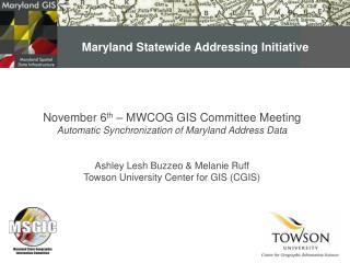 Maryland Statewide Addressing Initiative
