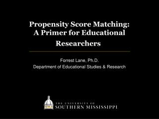 Propensity Score Matching:  A  Primer for Educational Researchers