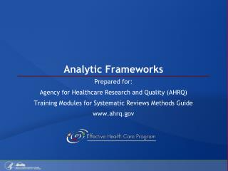 Analytic Frameworks