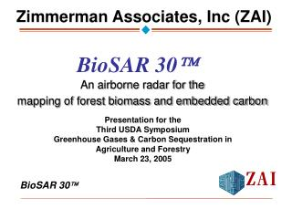 An airborne radar for the  mapping of forest biomass and embedded carbon