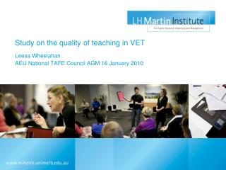 Study on the quality of teaching in VET