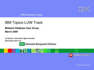 IBM Topics-LUW Track