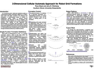 2-Dimensional Cellular Automata Approach for Robot Grid Formations