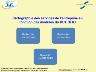 Cartographie des services de l'entreprise en fonction des modules du DUT QLIO