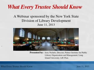 What Every Trustee Should Know