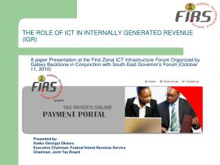 THE ROLE OF ICT IN INTERNALLY GENERATED REVENUE (IGR)