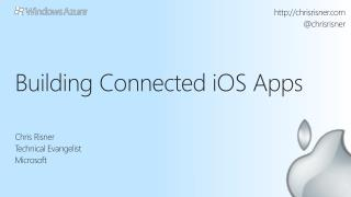 Building Connected  iO S  Apps