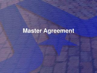 Master Agreement