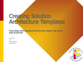 Creating Solution Architecture Templates