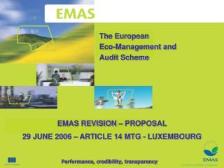 The European Eco-Management and Audit Scheme