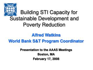 Building STI Capacity for Sustainable Development and Poverty Reduction