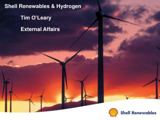 Shell Renewables & Hydrogen 	Tim O'Leary  	External Affairs