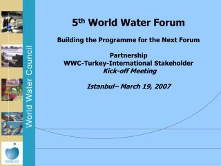 1 st  World Water Forum