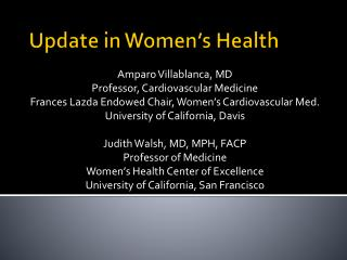 Update in Women's Health