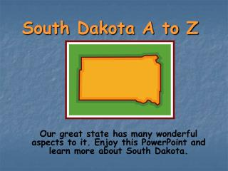 South Dakota A to Z