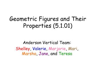 Geometric Figures and Their Properties (5.1.01)