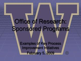 Office of Research: Sponsored Programs