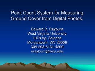 How to use the digital photo  point count system.
