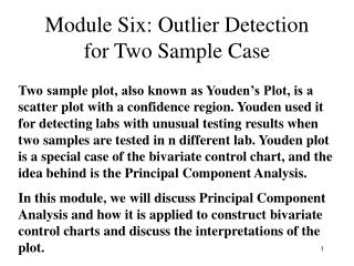 Module Six: Outlier Detection for Two Sample Case