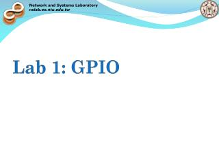 Lab 1: GPIO