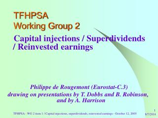 TFHPSA Working Group 2