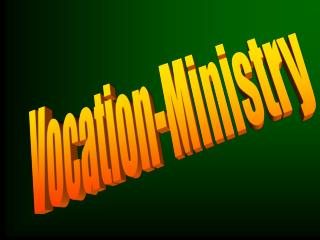 Vocation-Ministry