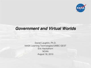 Government and Virtual Worlds
