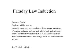 Faraday Law Induction