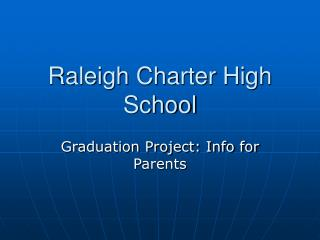 Raleigh Charter High School