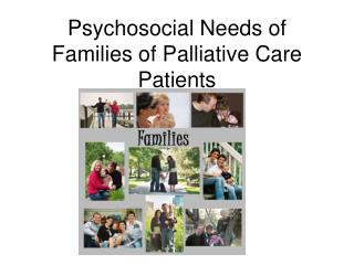 Psychosocial Needs of Families of Palliative Care Patients