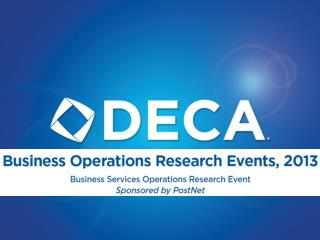 Implementing the Business Services Operations Research Event
