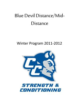 Blue Devil Distance/Mid-Distance