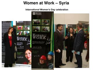 Women at Work – Syria International Women's Day celebration
