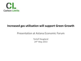 Increased gas utilisation will support Green Growth Presentation at Astana Economic Forum