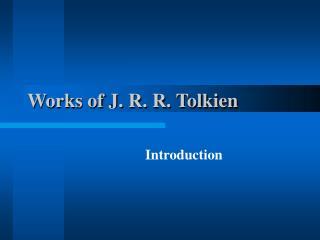 Works of J. R. R. Tolkien