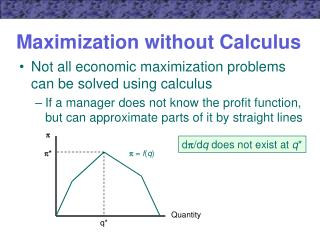 Maximization without Calculus