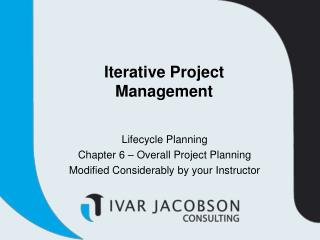 Iterative Project Management