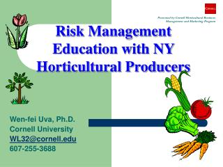 Risk Management Education with NY Horticultural Producers