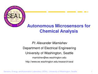 Autonomous Microsensors for Chemical Analysis